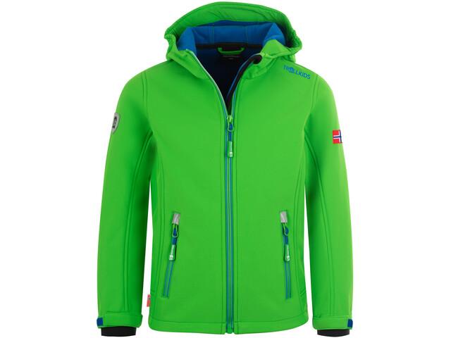 TROLLKIDS Trollfjord Veste Enfant, bright green/med blue